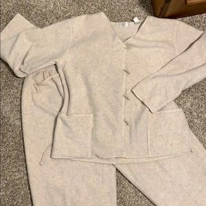 2 piece crop pants and matching jacket